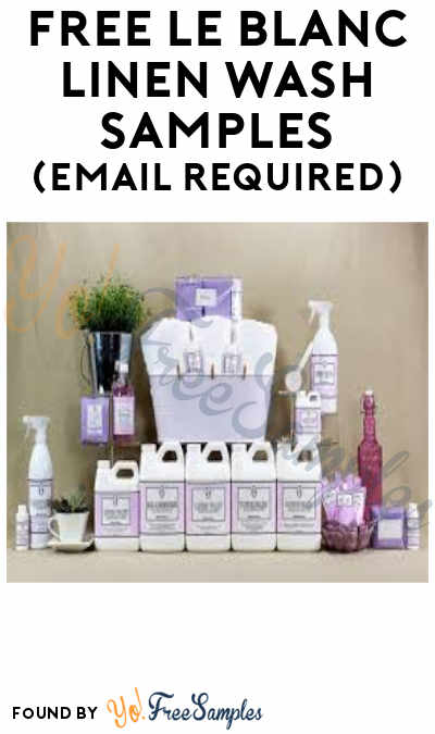 FREE Le Blanc Linen Wash Samples (Email Required)