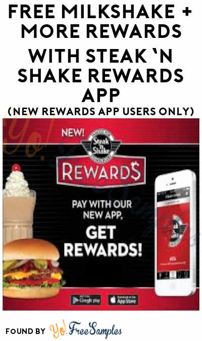 FREE Milkshake + More Rewards With Steak 'n Shake Rewards App (New Rewards App Users Only)