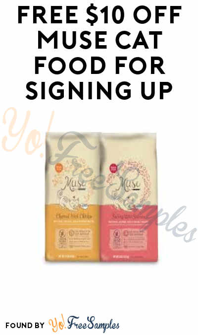 FREE $10 OFF Muse Cat Food For Signing Up