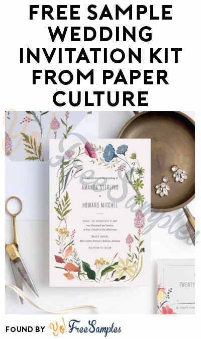 FREE Sample Wedding Invitation Kit From Paper Culture