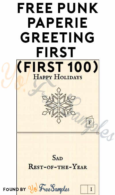 FREE Punk Paperie Greeting Card (First 100)