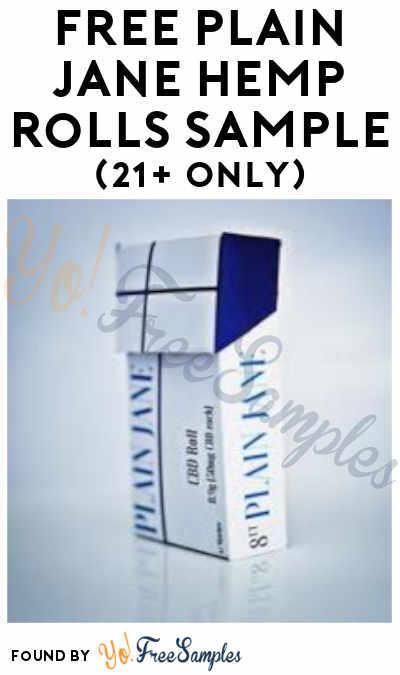 $3 Shipping :( – FREE Plain Jane Hemp Rolls Sample (21+ Only)