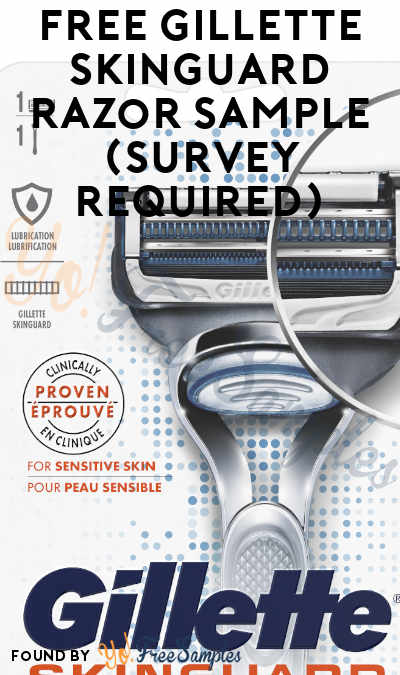 FREE Gillette SkinGuard Razor Sample (Survey Required)