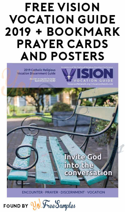 FREE Vision Vocation Guide 2019 + Bookmark Prayer Cards And Posters (Email Required)