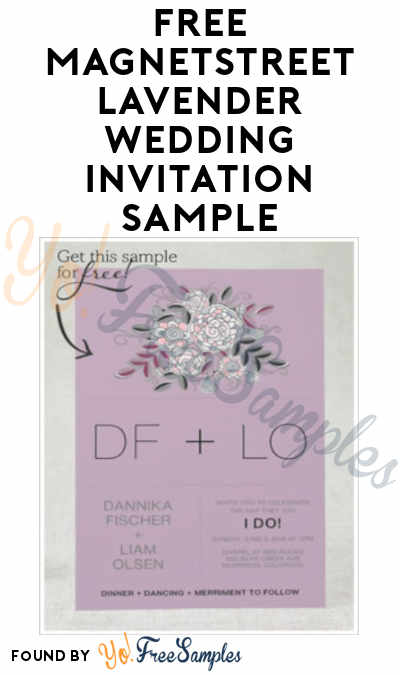 FREE MagnetStreet Lavender Wedding Invitation Sample
