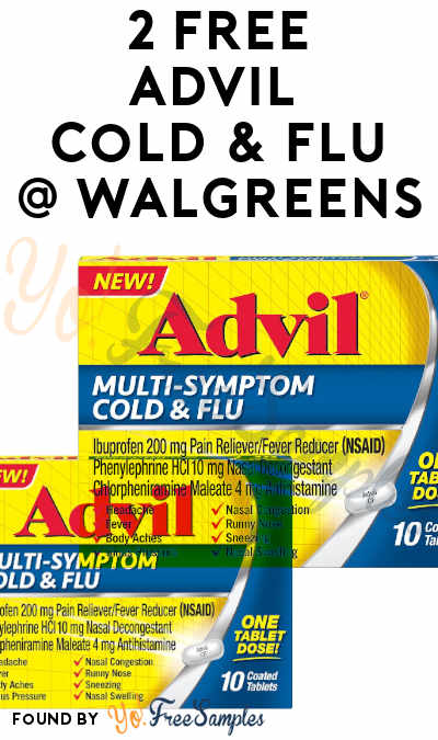 2 FREE Advil Cold & Flu Packs + $4 Profit At Walgreens [Verified]