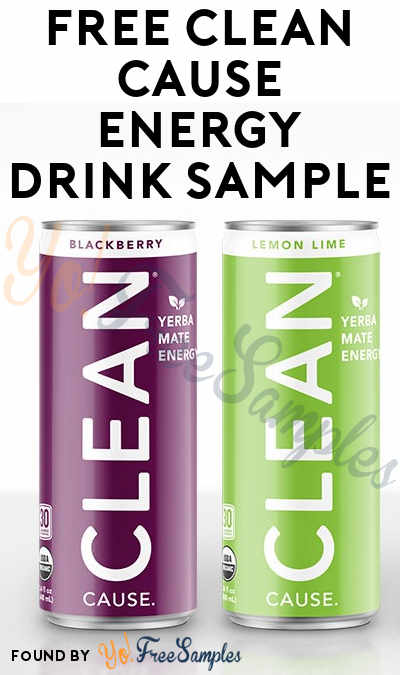 FREE CLEAN Cause Energy Drink Sample (Facebook Message Required) [Verified Received By Mail]