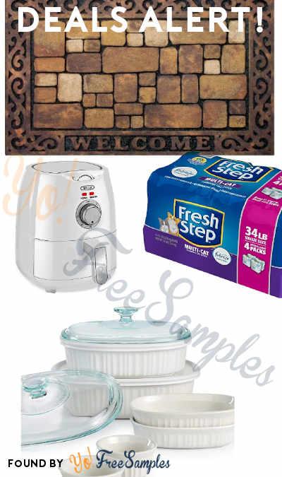 DEALS ALERT: Fresh Step Multi-Cat Febreze Cat Litter, Bella Air Fryer, Corningware Bakeware, Welcome Door Mat & More