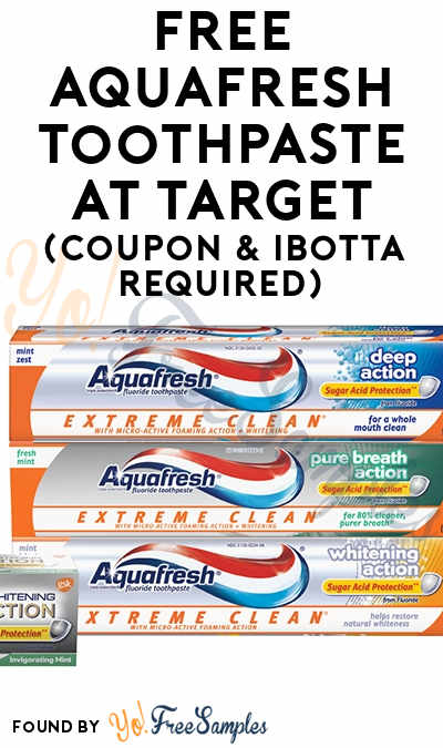 FREE Aquafresh Toothpaste At Target (Coupon & Ibotta Required)
