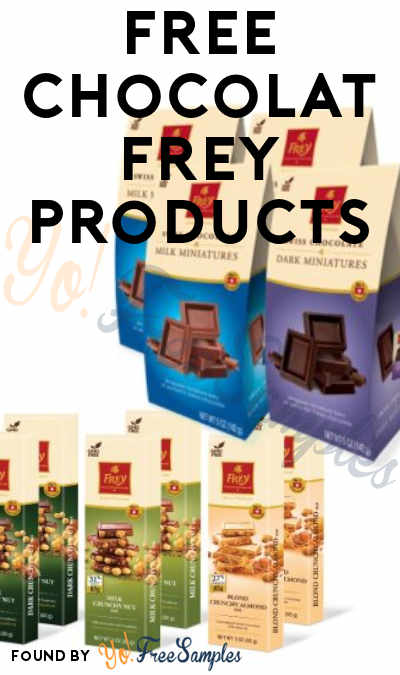 FREE Chocolat Frey Products (Must Apply To Host Tryazon Party)