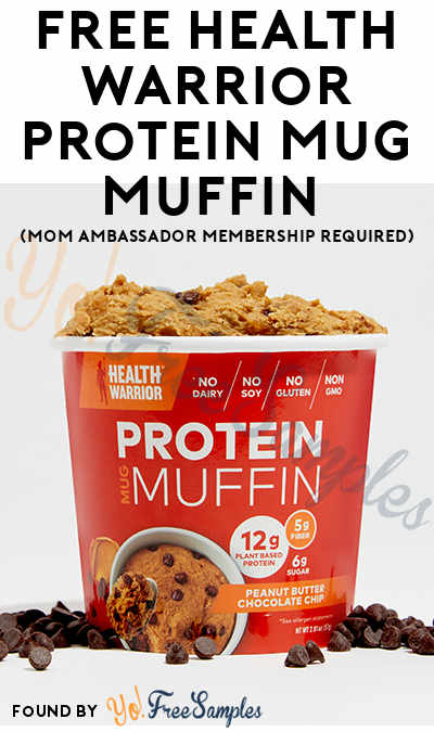 FREE Health Warrior Protein Mug Muffin (Mom Ambassador Membership Required)