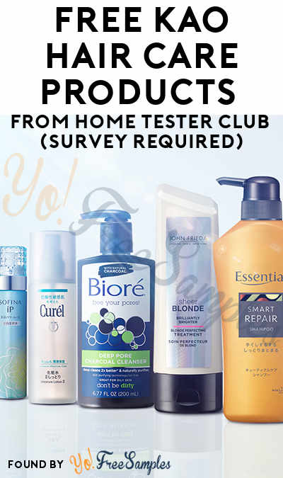 2 FREE KAO Hair Care Products From Home Tester Club (Survey Required)