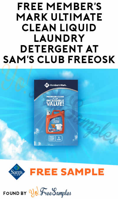 FREE Member's Mark Ultimate Clean Liquid Laundry Detergent At Sam's Club Freeosk