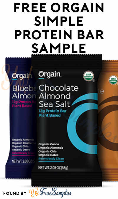 FREE Orgain Simple Protein Bar Sample [Verified Received By Mail]