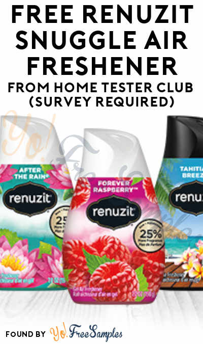 FREE Renuzit Snuggle Air Freshener From Home Tester Club (Survey Required)