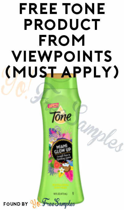 FREE Tone Product From ViewPoints (Must Apply)