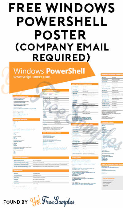 FREE Windows PowerShell Poster (Company Email Required)