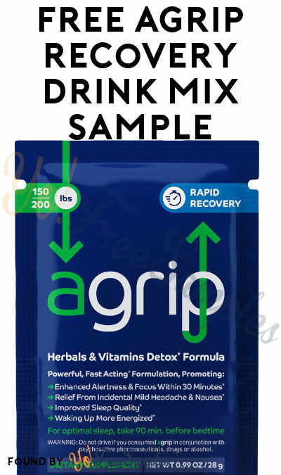 FREE agrip Recovery Drink Mix Sample