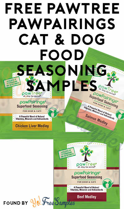 FREE pawTree pawPairings Cat & Dog Food Seasoning Samples