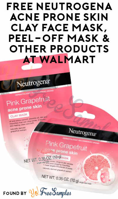 2 FREE Neutrogena Acne Prone Skin Clay Face Mask, Peel-Off Mask & Other Products At Walmart (Coupon Required)