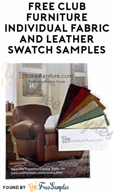 FREE Club Furniture Individual Fabric And Leather Swatch Samples