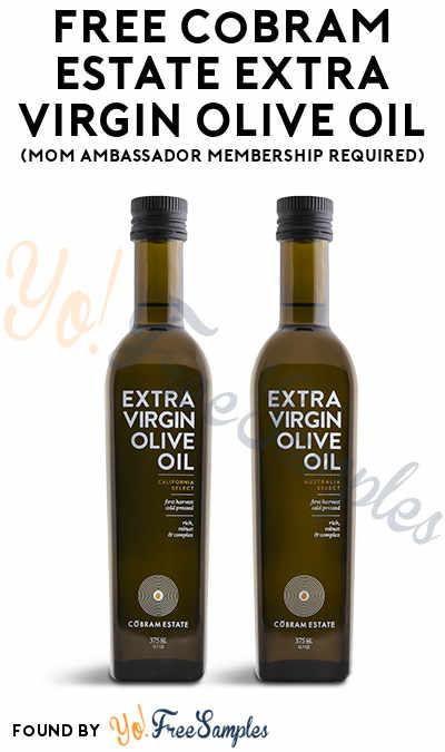 FREE Cobram Estate Extra Virgin Olive Oil (Mom Ambassador Membership Required)