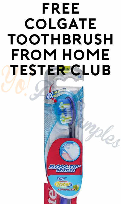 FREE Coglate Toothbrush From Home Tester Club (Survey Required)