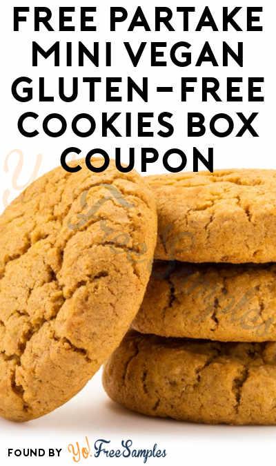FREE Full-Size Partake Mini Vegan Gluten-Free Cookies Box Coupon