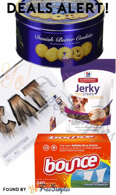 DEALS ALERT: Danish Butter Cookies, Bounce Sheets, Diet Jerky Dog Treats, Cat Game Drawing Game & More