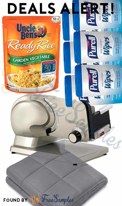 DEALS ALERT: Uncle Ben's Ready Rice, PURELL Hand Wipes, Electric Meat Slicer, Weighted Blanket & More