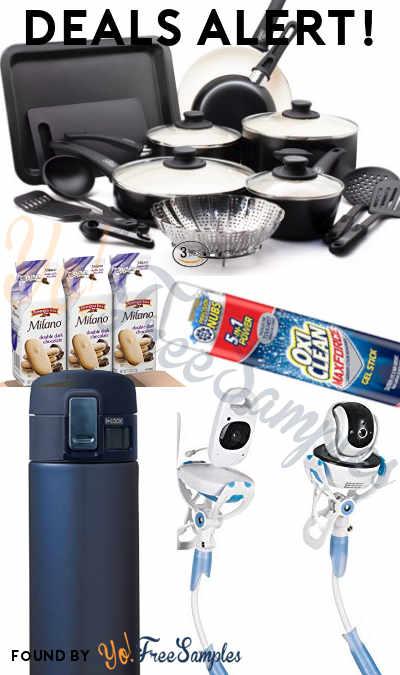 DEALS ALERT: OxiClean, Milano Cookies, Zojirushi Stainless Steel Mug, GreenLife 18-Piece Cookware Set, Universal Baby Camera Mount & More