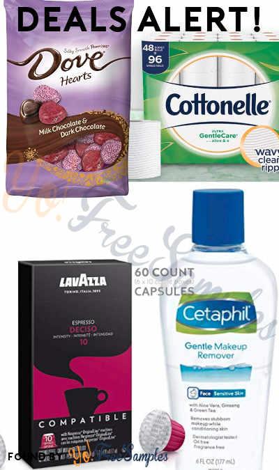 DEALS ALERT: Lavazza Nespresso Capsules, Dove Valentine Milk + Dark Chocolate, Cottonelle Ultra GentleCare Toilet Paper, Cetaphil Makeup Remover & More