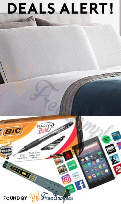 DEALS ALERT: Memory Foam Pillow, BIC Velocity Ball Pens, Fire HD 8 Tablet, Natural Gas Detector Pen & More