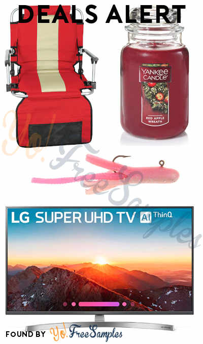 DEALS ALERT: Stadium Seat with Arms, Berkley Fresh Water Fishing Bait, Yankee Candle Large Jar, LG Electronics 4K TV & More