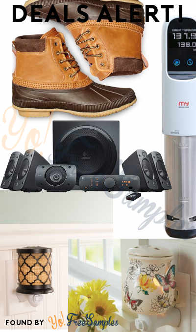 DEALS ALERT: Duck Boots, Logitech Speaker System, My Sous Vide Cooker, Wax Warmers & More
