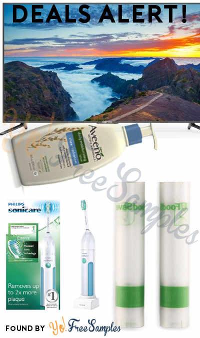 DEALS ALERT: Philips Sonicare Toothbrush, Aveeno Moisturizing Lotion, Sceptre 65″ 4K TV, FoodSaver Vacuum Seal Rolls