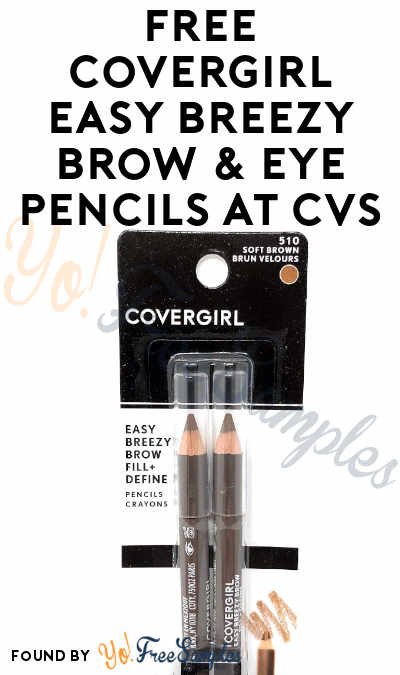 2 FREE CoverGirl Easy Breezy Brow & Eye Pencils At CVS (Coupon Required)
