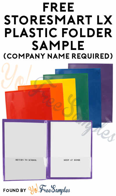 FREE StoreSMART LX Plastic Folder Sample (Company Name Required)