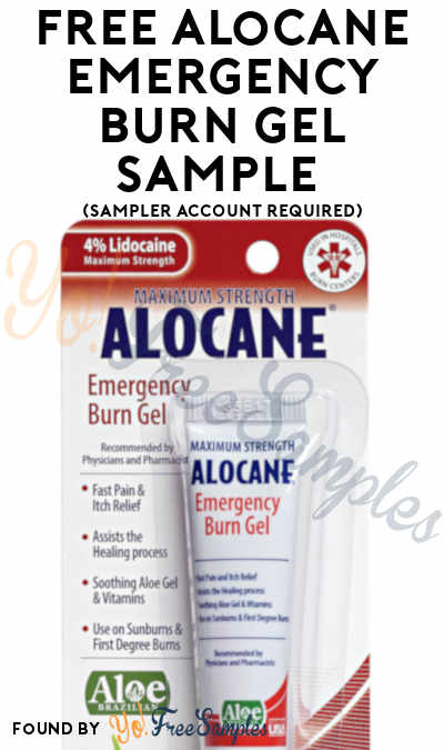 FREE Quest Alocane Emergency Burn Gel Sample (Sampler Account Required)