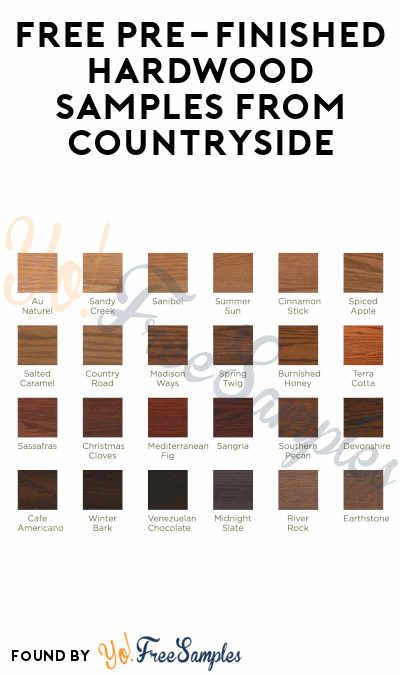 FREE Pre-Finished Hardwood Samples From Countryside