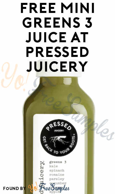 FREE Mini Greens 3 Juice At Pressed Juicery (In-Store Only)