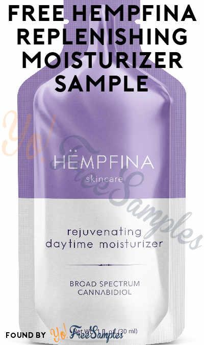 FREE Hempfina Replenishing Day Moisturizer Skincare Sample