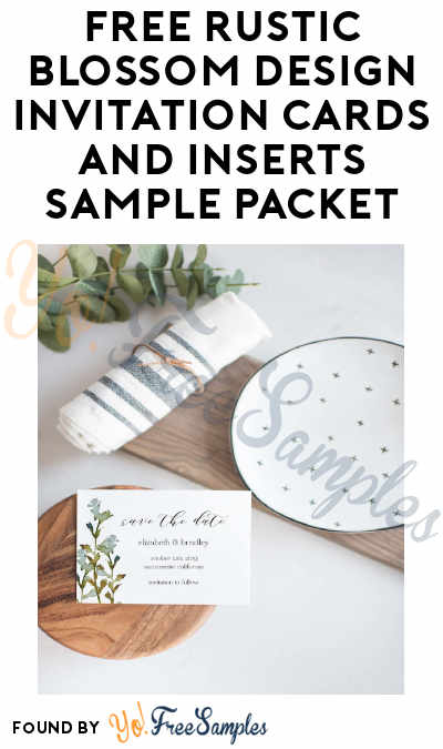 FREE Rustic Blossom Design Invitation Cards And Inserts Sample Packet