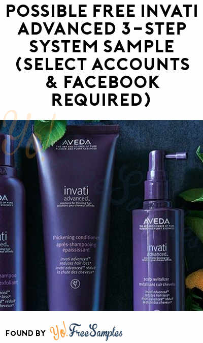 Possible FREE Invati Advanced 3-Step System Sample (Select Accounts & Facebook Required)