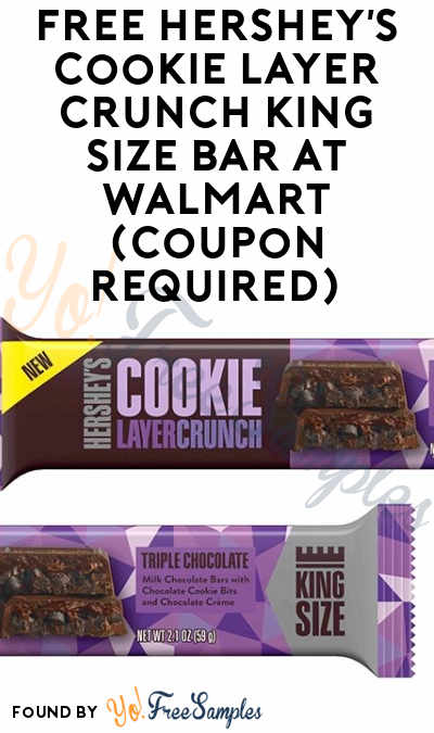 FREE Hershey's Cookie Layer Crunch King Size Bar At Walmart (Coupon Required)