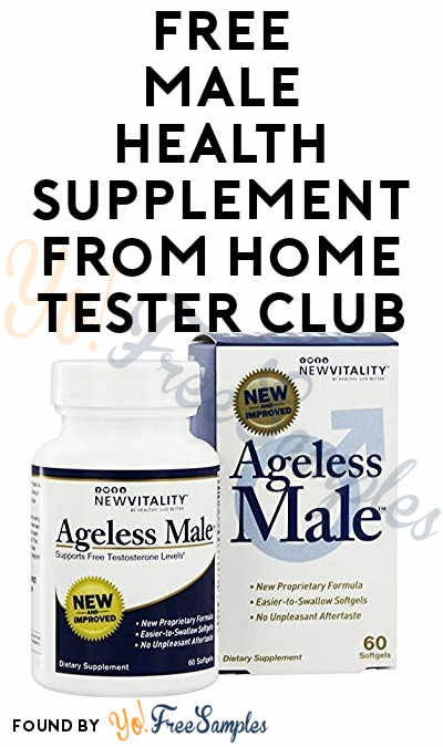FREE Male Health Supplement From Home Tester Club (Survey Required)