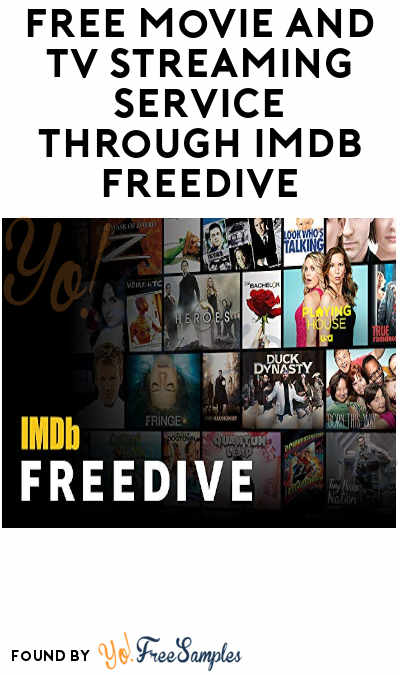 FREE Movie And TV Streaming Service Through IMDb Freedive
