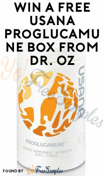 Win A FREE USANA Proglucamune Bottle From Dr. Oz