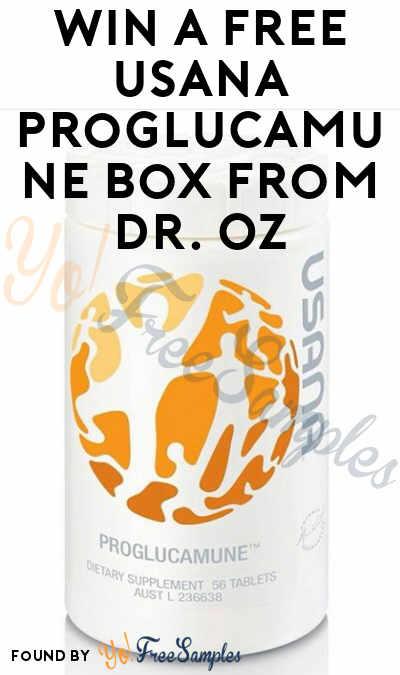 Win A FREE USANA Proglucamune BottleFrom Dr. Oz