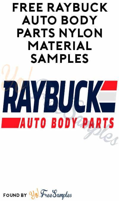FREE Raybuck Auto Body Parts Nylon Material Samples